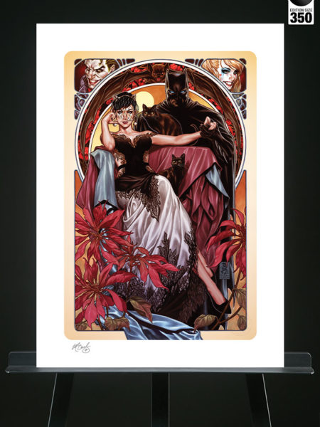 Sideshow DC Comics Batman & Catwoman 46x61Art Print By Mark Brooks