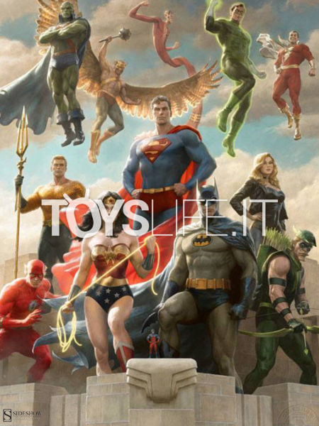 Sideshow DC Comics Justice League Classic Variant 46x61 Unframed Art Print by Paolo Rivera