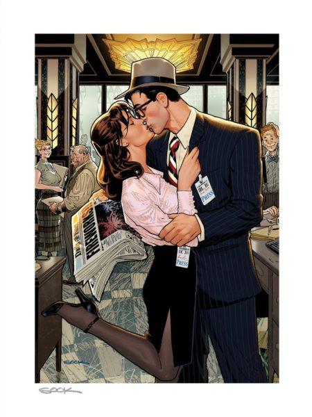 Sideshow DC Comics Lois & Clark Fireworks!! 46x61 cm Unframed Art Print