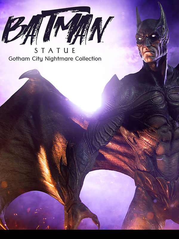 Sideshow DC Gotham City Nightmare Collection Batman Statue