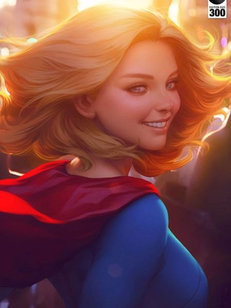 Sideshow DC Comics Supergirl #16 Limited Edition Unframed Art Print by Artgerm