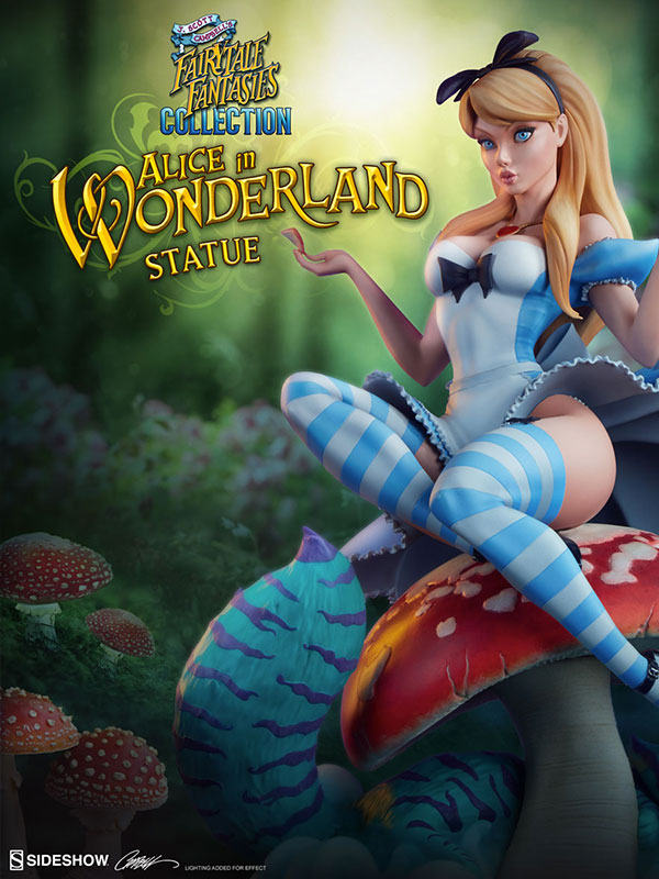 Sideshow Fairytale Fantasies Collection Alice in Wonderland Statue By J.S.Campbell