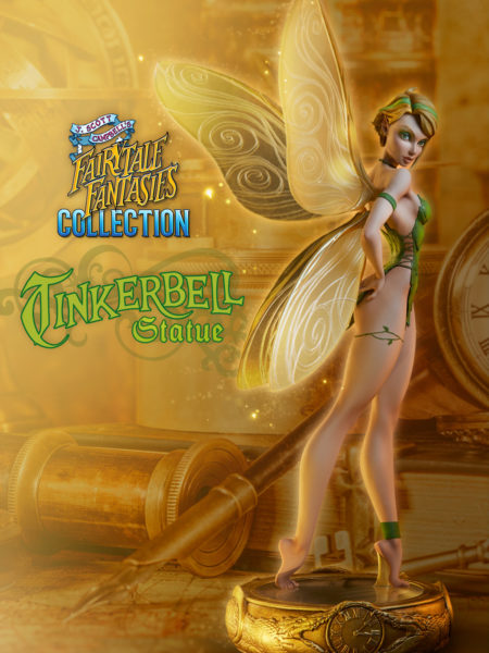Sideshow Faitytale Fantasies Collection Tinkerbell Statue By J.S. Campbell