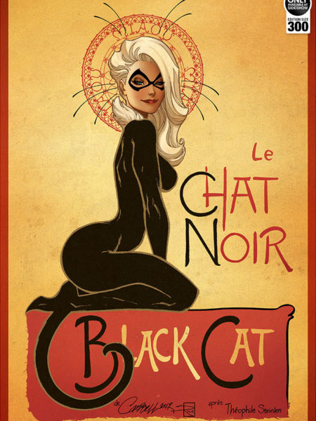 Sideshow Marvel J.S.Campbell Le Chat Noir The Black Cat Print