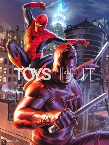 Sideshow Marvel Comics Daredevil and Spiderman Unframed Art Print