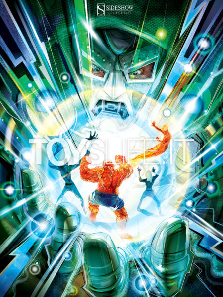 Sideshow Marvel Comics Fantastic Four Hand Of Doom 46x61 Unframed Art Print