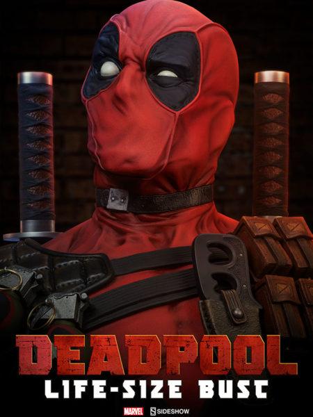 Sideshow Marvel Deadpool Lifesize Bust 1:1