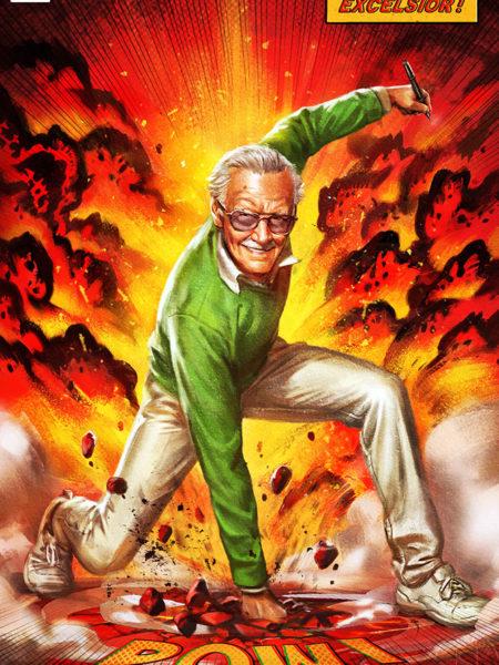 Sideshow Marvel Stan Lee Excelsior 45x61 Unframed Art Print
