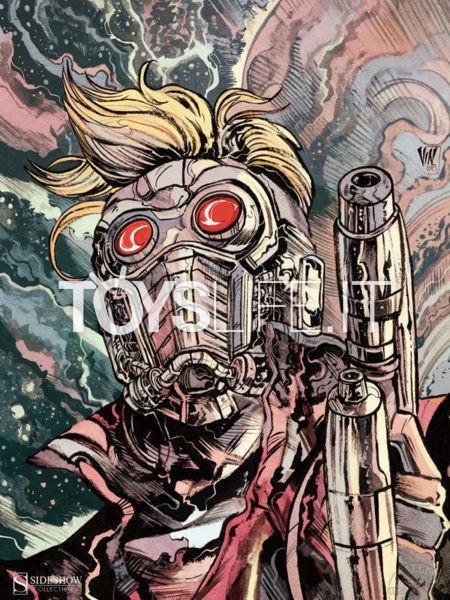 Sideshow Marvel Comics Star Lord 46X61 Unframed Art Print