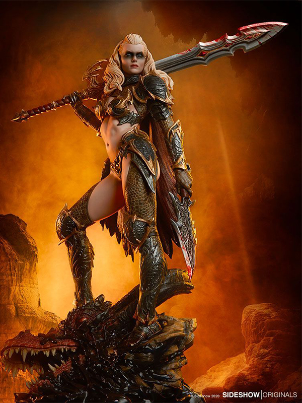 Sideshow Originals Dragon Slayer Warrior Forged in Flame Statue