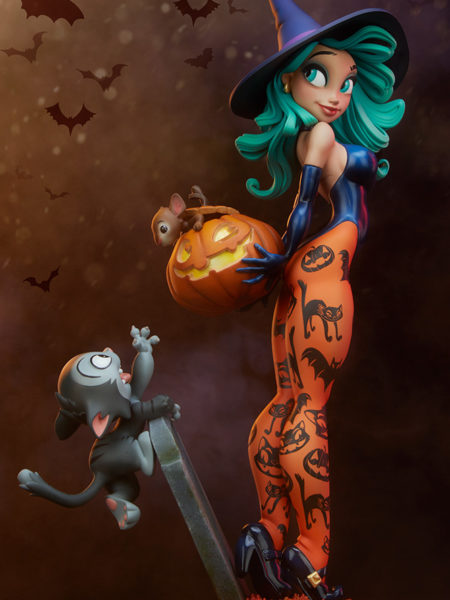Sideshow Happy HallowQueens Pumpkin Witch Statue By Chris Sanders