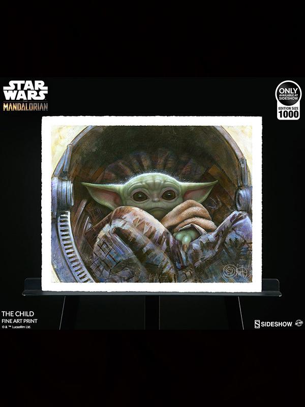 Sideshow ACME Archives Star Wars The Mandalorian The Child 51 x 41 cm Unframed Art Print