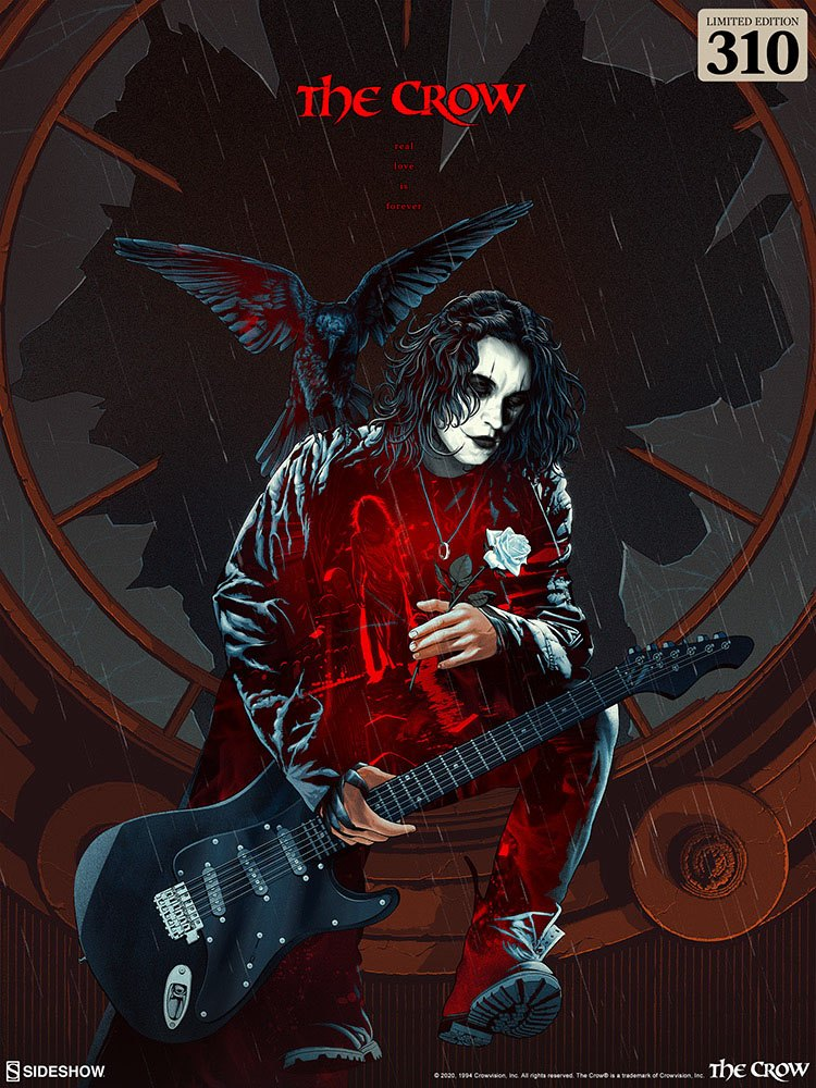 Sideshow The Crow Real Love is Forever 46X61 Unframed Art Print