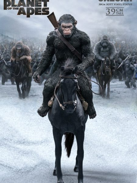 Star Ace War For the Planet Of The Apes Caesar with Gun Pvc Statue