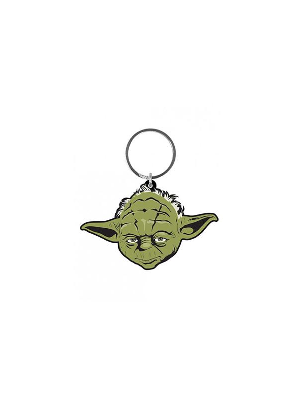Star Wars Yoda Rubber Keychain Portachiavi