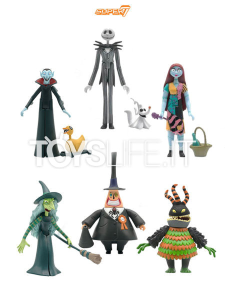 Super 7 Nightmare Before Christmas Jack/ Sally/ Mayor/ Vampire/ Witch/ Harlequin Demon ReAction Figure