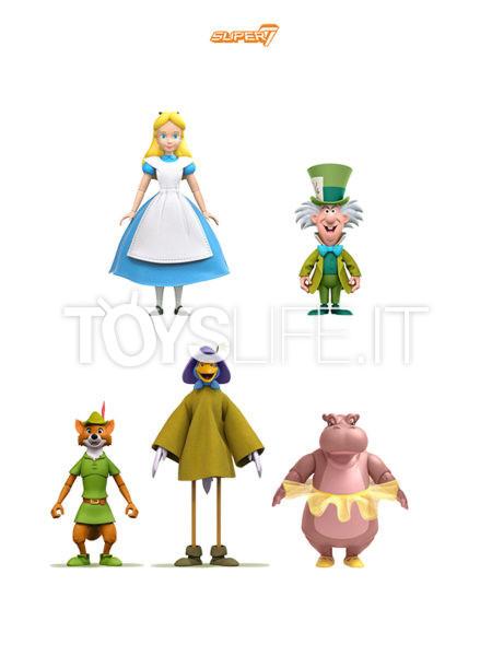 Super 7 Disney Alice In Wonderland/ Mad Hatter/ Robin Hood Stork Costume/ Hyacinth Hippo Wave 2 Ultimate Figure