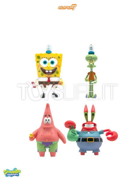 Super 7 Spongebob Squarepants Spongebob/ Patrick/ Mr. Krabs/ Squidwarf Figure Wave 1