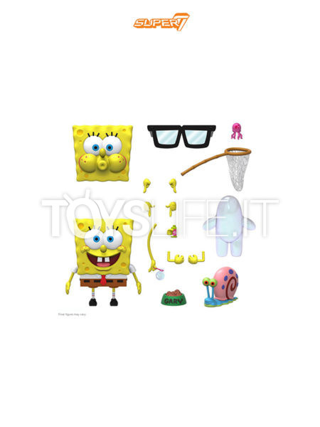 Super 7 Spongebob Squarepants Spongebob Ultimates Figure Wave 01