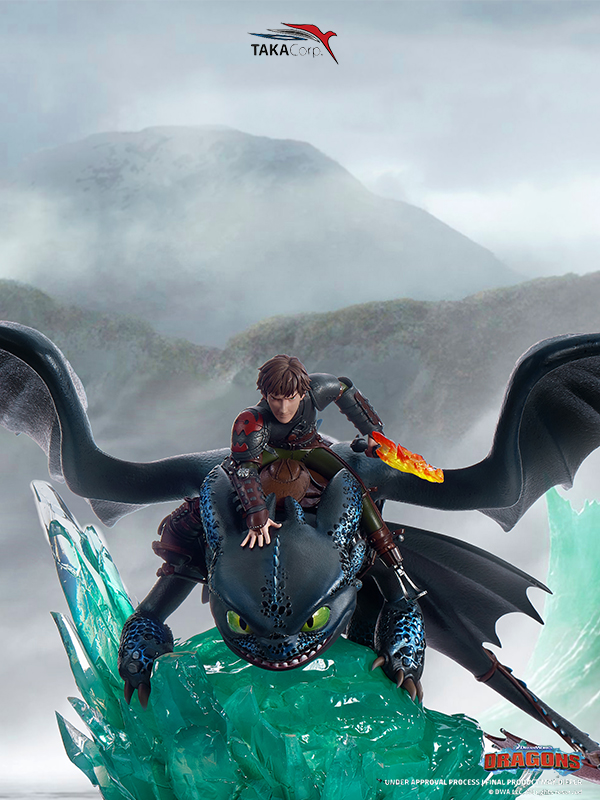 Taka Corp Dragon Trainer Hiccup & Tootless 1/6 Statue