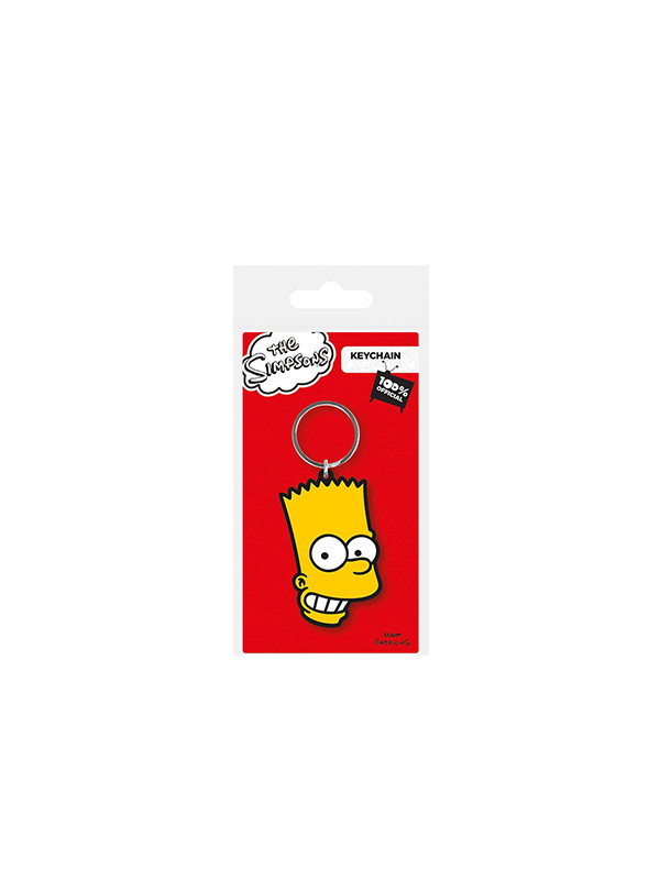 The Simpsons Bart Rubber Keychain Portachiavi