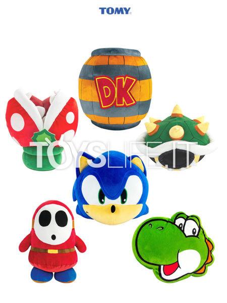Tomy Nintendo/ Sega DK Barrel/ Yoshi/ Piranha Plant/ Bower's Shell/ Sonic/ Shy Giu Mocchi-Mocchi Plush