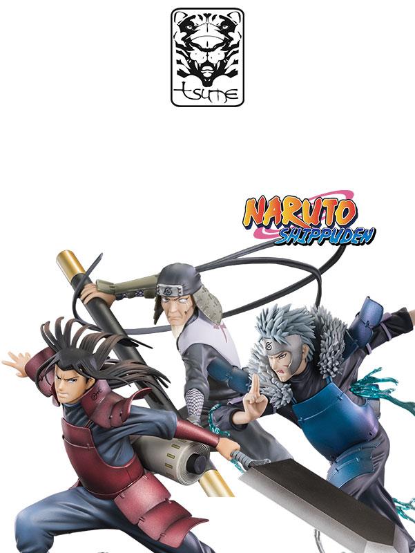 Tsume Art Naruto Shippuden Tobirama/Hashirama/Sarutobi Xtra Figures