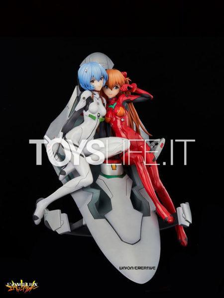 Union Creative Neon Genesis Evangelion Rei & Asuka Twinmore Object Pvc Statue