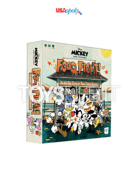 Usaopoly Disney Mickey and Friends Food Fight Boardgame English Version