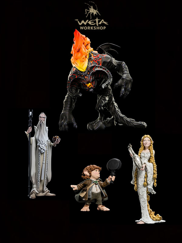 Weta Lord Of The Rings Epics Mini Figures Balrog/Saruman/Lady Galadriel/Samwise Gangee
