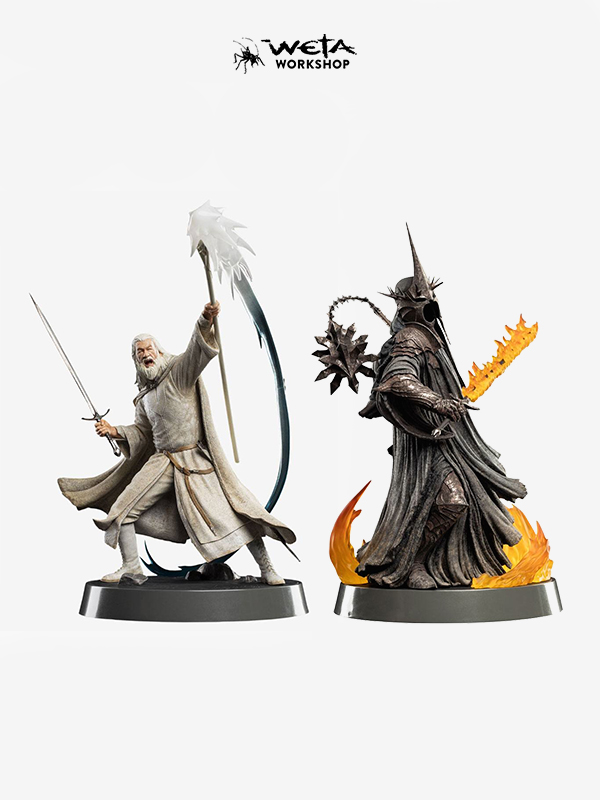 Weta The Lord of the Rings Gandalf the Grey/WitchKing Of Angmar Pvc Figures Of Fandom Figure