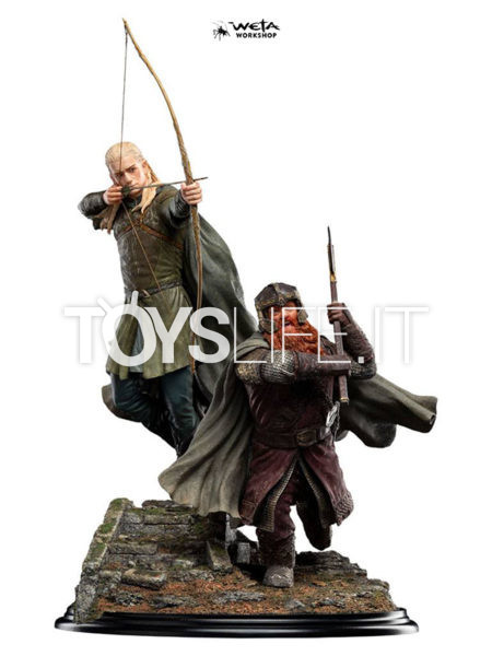 Weta Lord of the Rings Legolas and Gimli at Amon Hen 1:6 Statue
